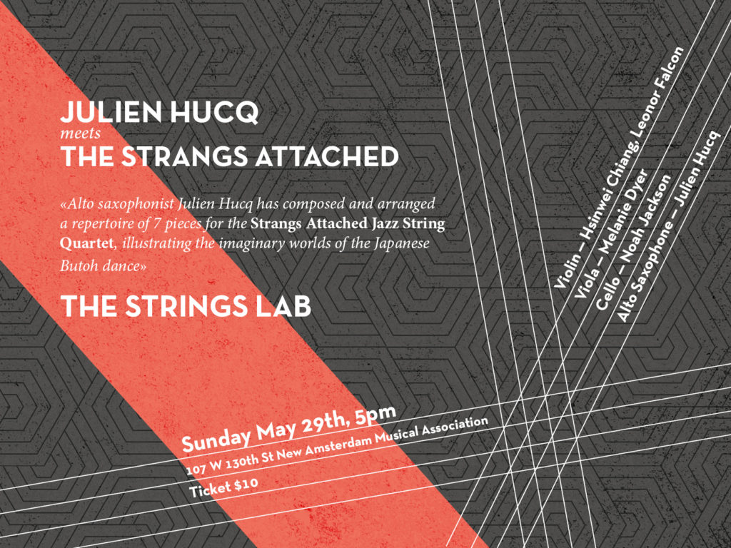 Julien Hucq meets the Strangs Attached Jazz String Quartet, May 29th 2016
